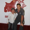 21/07/09 Brisbane Lion Joel Patfull visits the Club