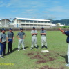 Peter Misilagi base running coach giving instruction