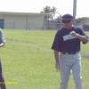 Ray Brown BCO Development Officer giving pitching instruction