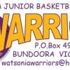U10 Girls Watsonia Warriors 1 Logo