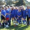 Under 13 Girls at training