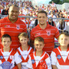 u10s at the Dragons vs Newcastle game
