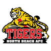 North Beach Tigers Yr5 Black Logo