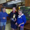 Barry Lovell and Doug Carswell (Winter Series Winners) with Marg Grant (Commodore)