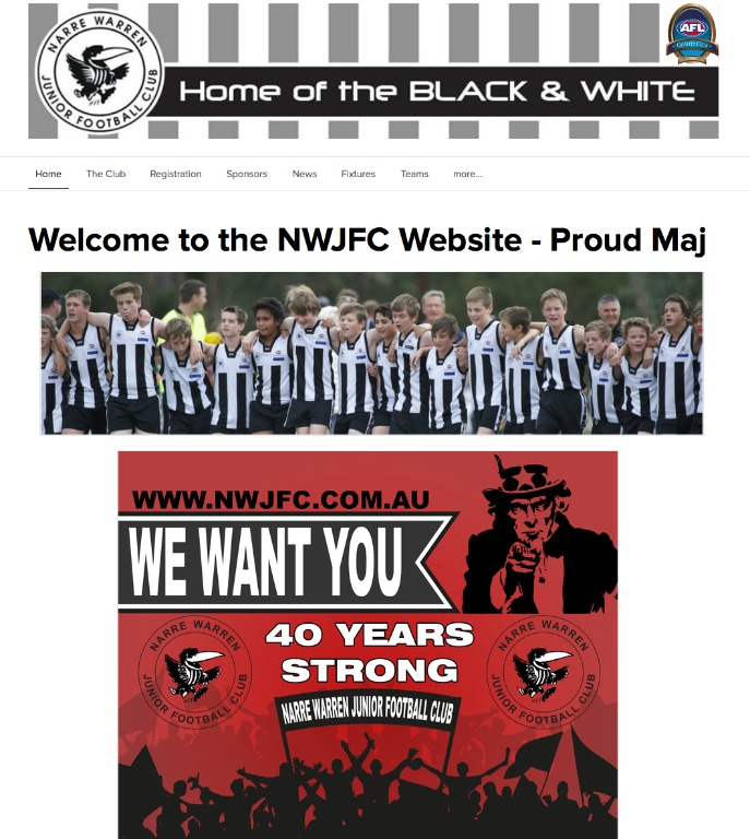New NWJFC Website - Home of the Black and the White