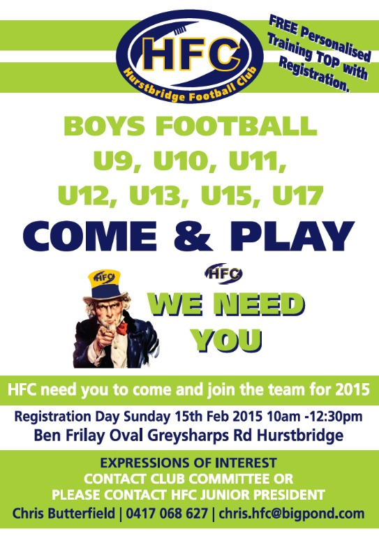2015 Boys Registration