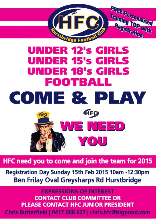 2015 Girls Registration