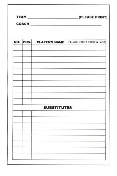basketball roster sheet