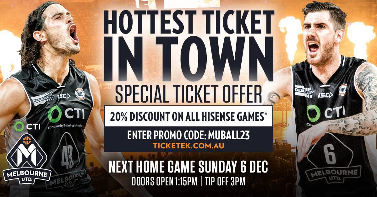 Melbourne United Special Offer