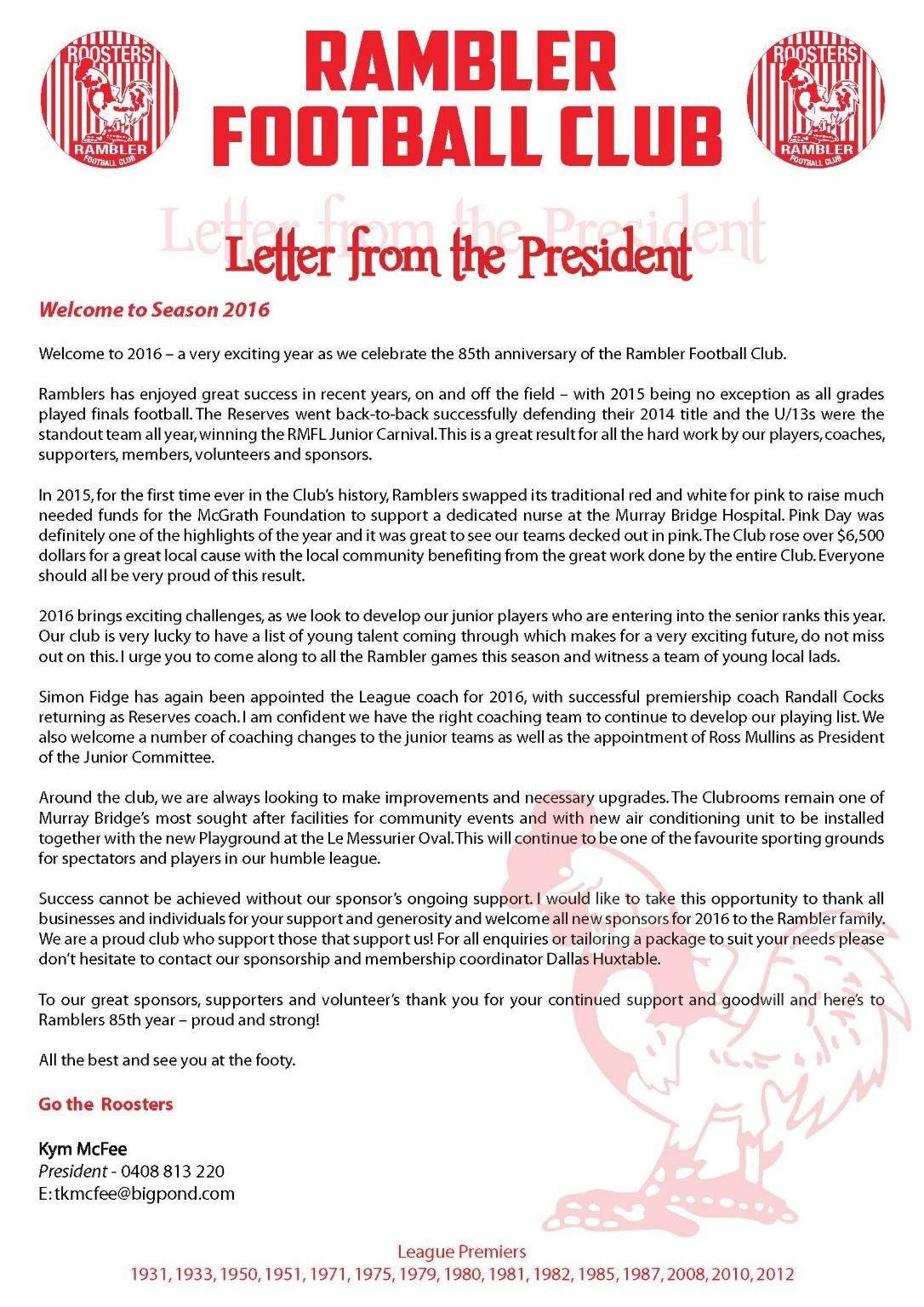 Sponsorship Packages - Rambler Football Club - SportsTG