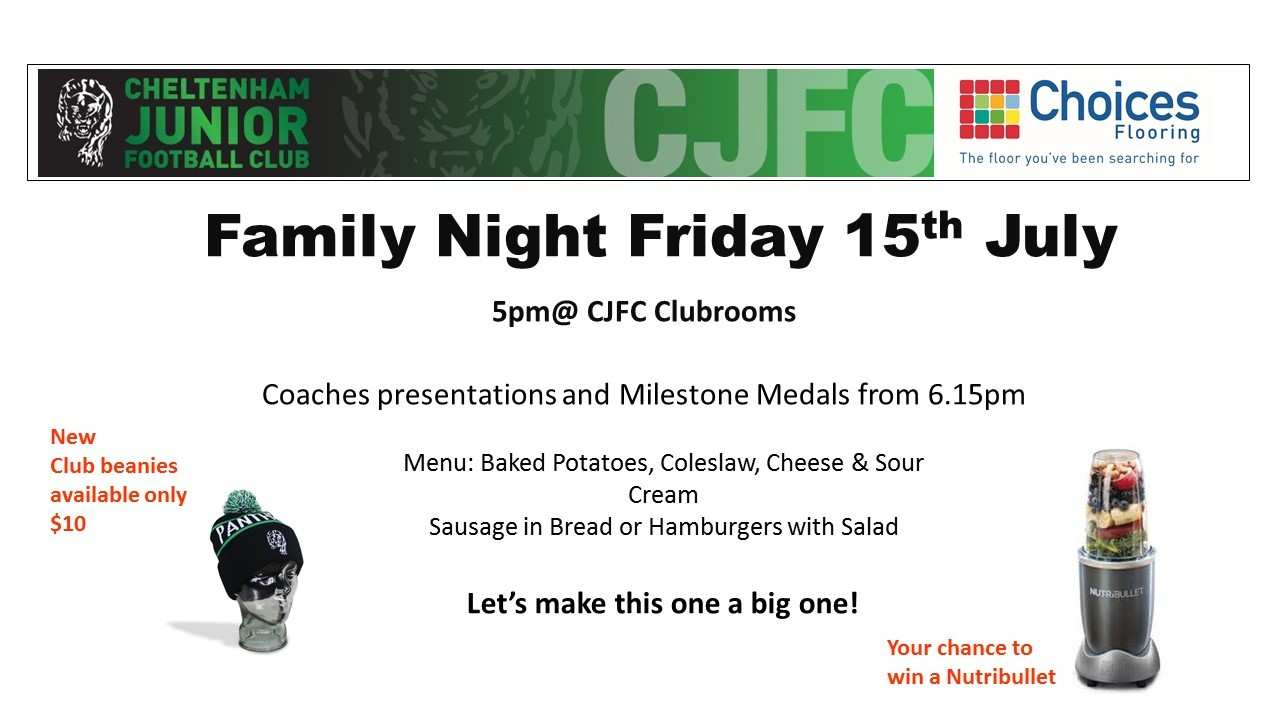 Family Night Friday 15th July