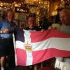 PC Bob McGregor and David Wallace at the Seven Stars Pub in Falmouth UK