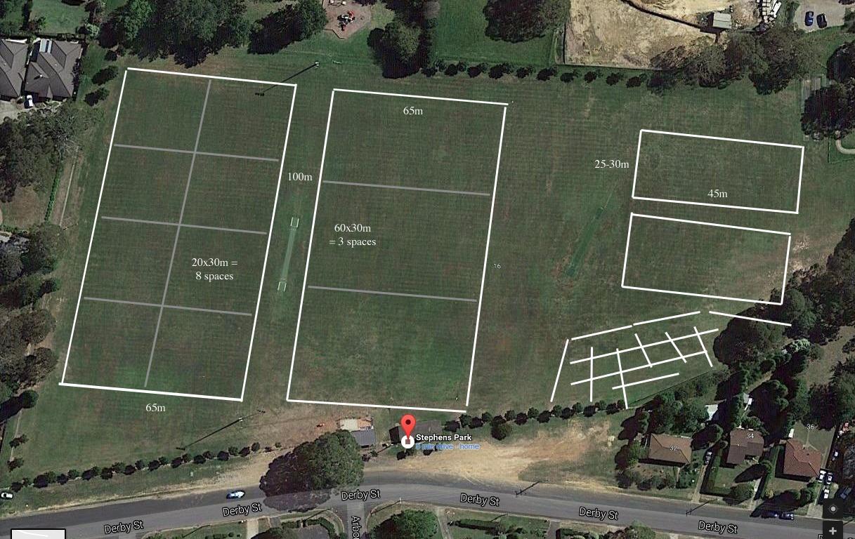 Stephens Park Training Setup