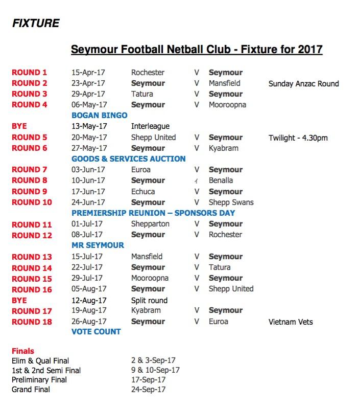 2017 Fixture