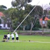 Putting up the footy posts