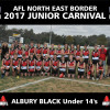 2017 AFLNEB Junior Carnival Under 14 Team Photos