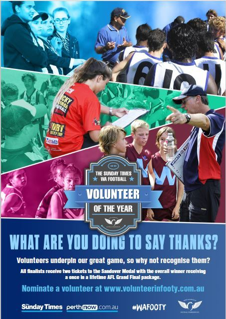 Volunteer of the Year 2017 poster