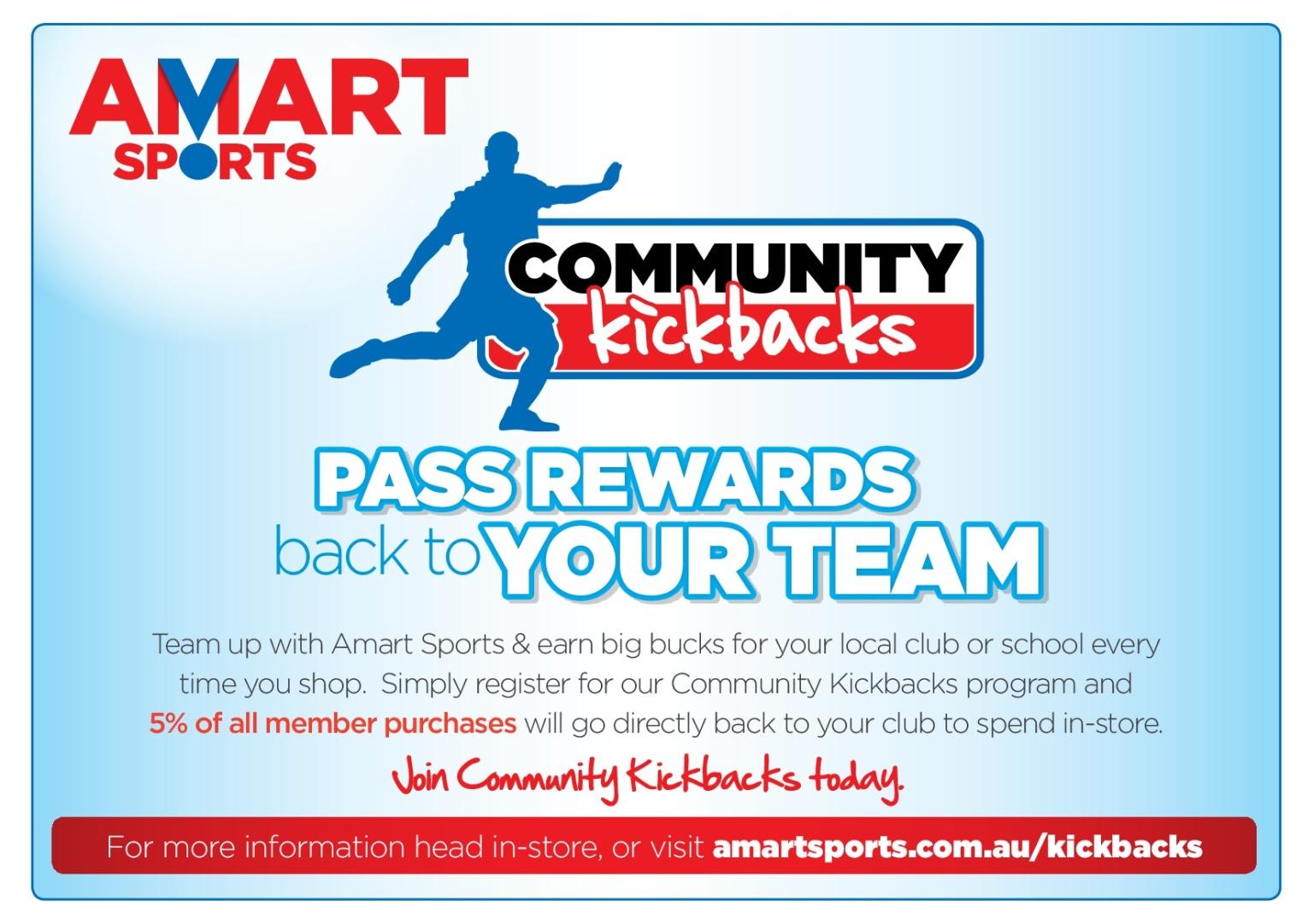 Amart Sports Community Kickbacks