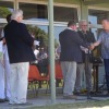 Presentation of cheque to Tony Featherstone, Cottage by the Sea