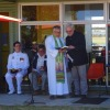 Revd Peter Martin and Commodore Richard Lowe discuss the order of service