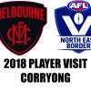 AFL Player Visit 2018 - Melbourne in Corryong