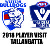AFL Player Visit 2018 - Western Bulldogs in Tallangatta