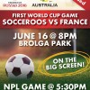 World Cup action at Brolga Park!