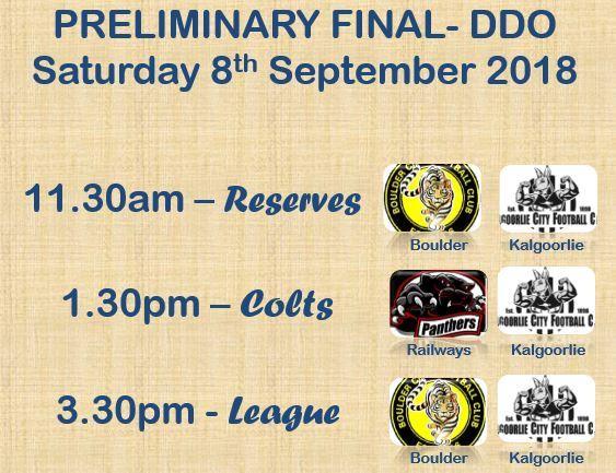 Preliminary finals