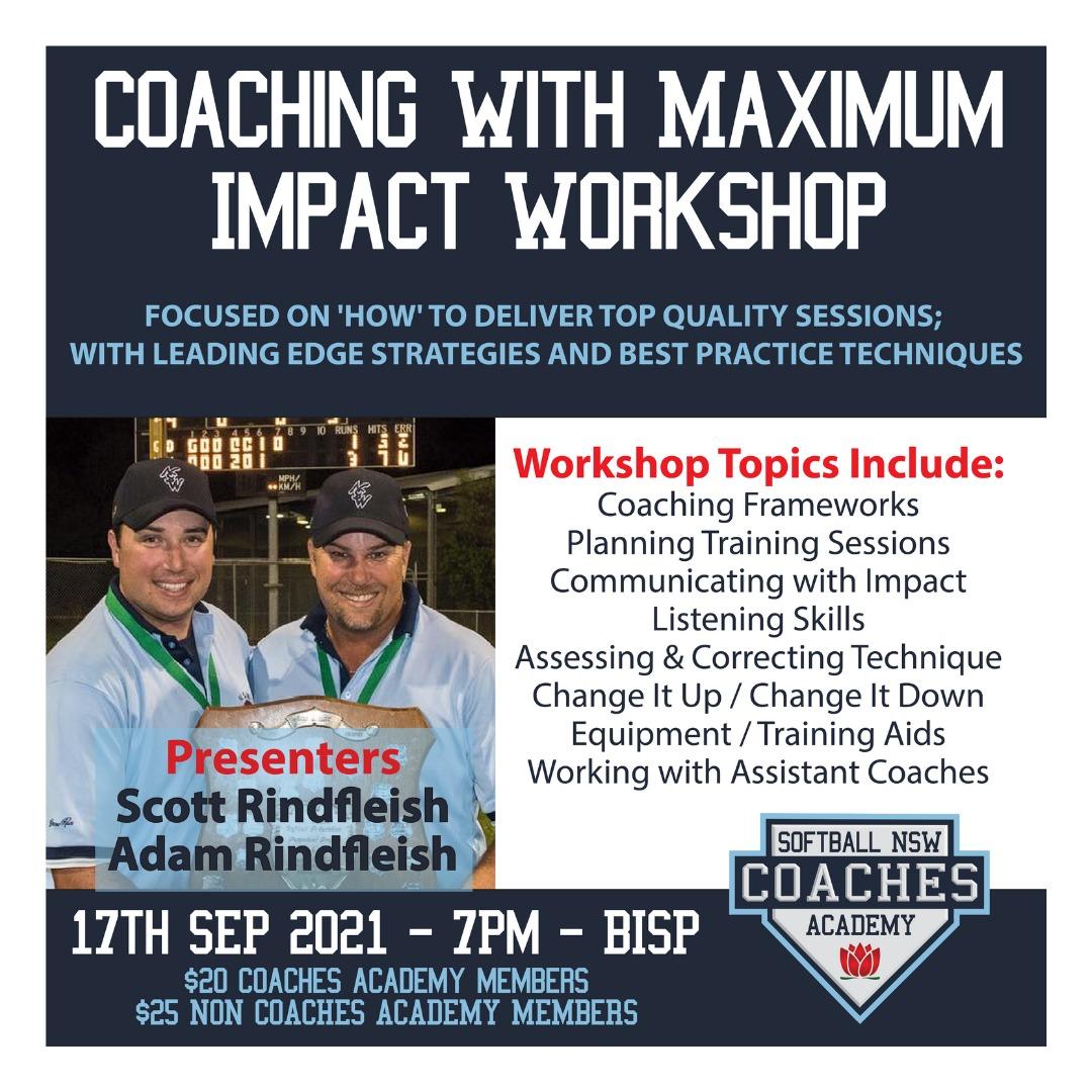 coaching with maximum impact